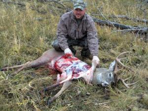 My whitetail buck was quartered and partially processed in the field before final cutting and wrapping. This is a necessary practice if you hunt far from road access in the wilds of North Dakota.