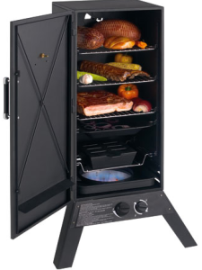 A typical box-style smoker