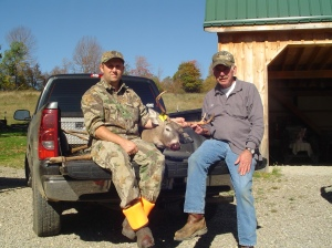 Dad and me with a buck we'd nicknamed Ol' Wide Boy, a mature 4-point. A too-rare occasion when dad was on the subject side for a photo!