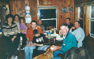 Taken several years ago, no one at this table realized this would be the last time our entire immediate family (mom, dad, three sons) would share deer camp together.